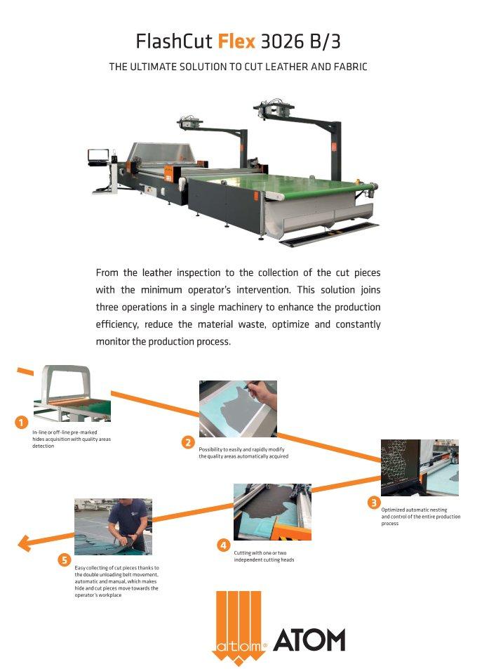 Knife Cutting Systems : FlashCut Flex - Cutting machines - Atom S p A